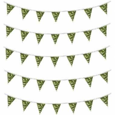 10x camouflage vlaggenlijn 10 meter