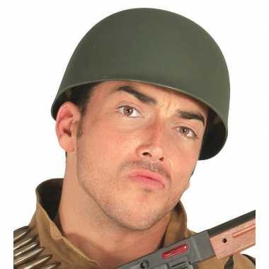 2x stuks amerikaanse soldaten/leger helm voor volwassenen