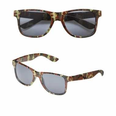 2x stuks camouflage print verkleed zonnebril