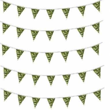 5x camouflage vlaggenlijn 10 meter