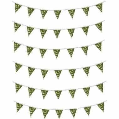 6x camouflage vlaggenlijn 10 meter