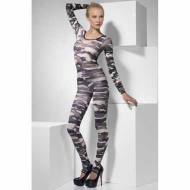 Bodysuit met camouflage print