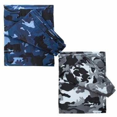 Camouflage afdekzeilen 6 x 3,5 m