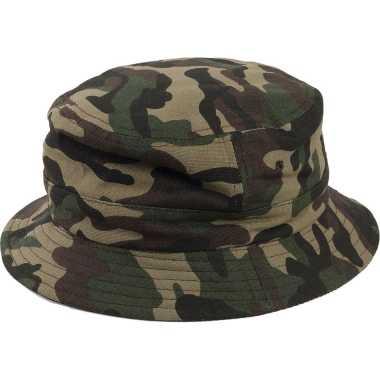 Camouflage hoed voor volwassenen groen one size