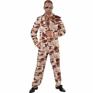 Camouflage pak 3-delig voor heren