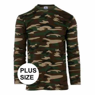 Camouflage shirt longsleeve plus size