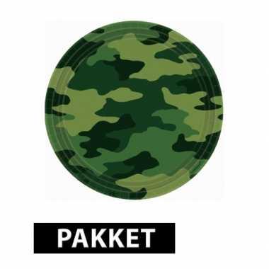 Camouflage versiering pakket voor kinderfeestje