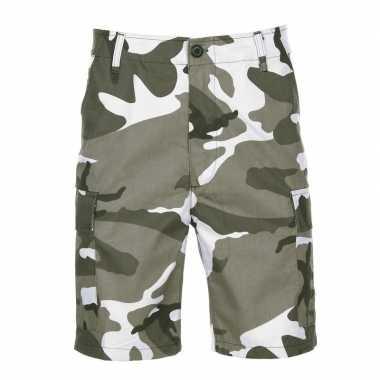 City camouflage shorts voor heren
