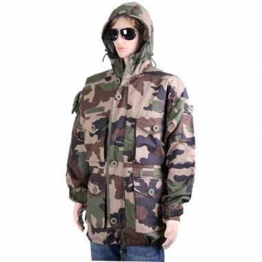 Dikke winterjas in camouflage print