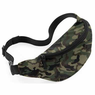 Heuptasje buideltasje camouflage leger print 38 cm