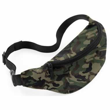 Heuptasje/fanny pack camouflage/leger print 38 x 14 x 8 cm