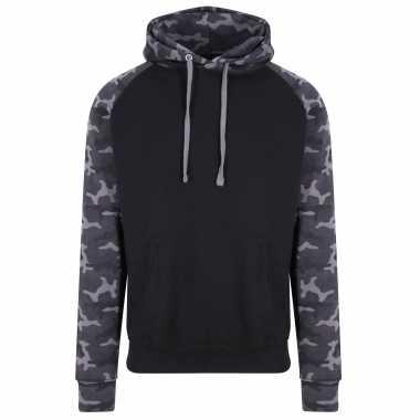 Just hoods capuchon sweater camouflage/black voor heren