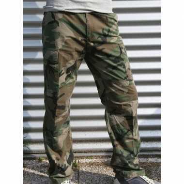 Katoenen camouflage broek
