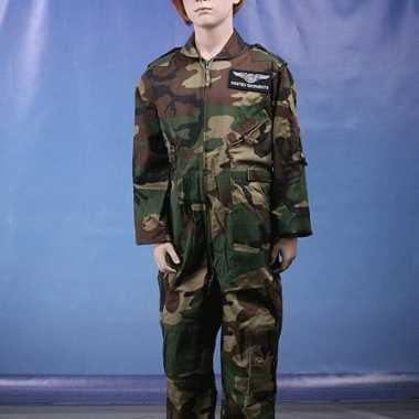 Kleding camouflage kinder overall