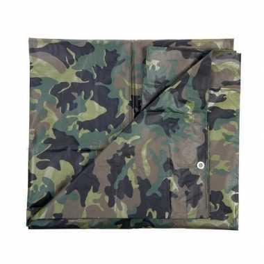 Leger thema feest camouflage afdekzeil groen 5 x 6 meter