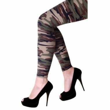 Military look legging dames