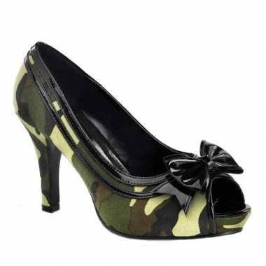 Peep toe legerprint pumps