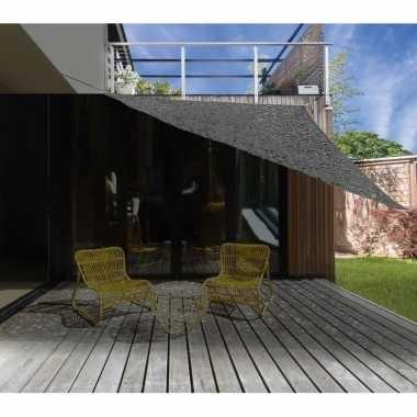 Schaduwdoek/zonnescherm driehoek grijs camouflage 3,6 meter