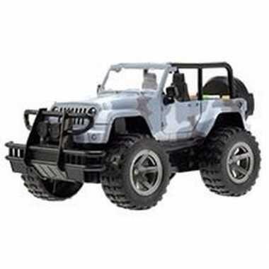 Speelgoed blauwe jeep wrangler auto 27,5 cm