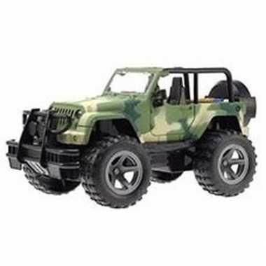 Speelgoed legergroene jeep wrangler auto 27 cm