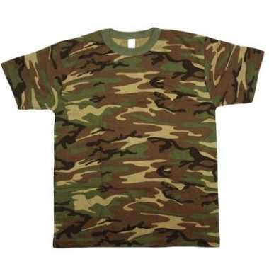T-shirt korte mouw camouflage print