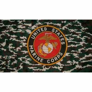 Us marine corps vlag met logo