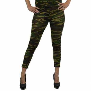 Woodland camouflage legging voor dames