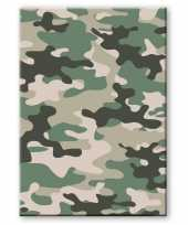 Camouflage legerprint luxe schrift notitieboek groen gelinieerd a4 formaat