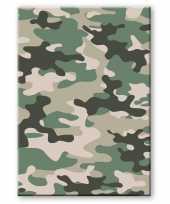 Camouflage legerprint luxe wiskunde schrift notitieboek groen ruitjes 10 mm a4 formaat