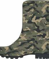 Groene kleuter kinder regenlaarzen camouflage leger print