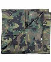 Leger thema feest camouflage afdekzeil groen 2 85 x 4 meter