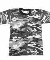 T shirt grijze urban camouflage print
